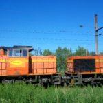 locomotive pour le train Colas, en gare d'Anor