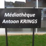 panneau de la médiathèque Antoon Krings