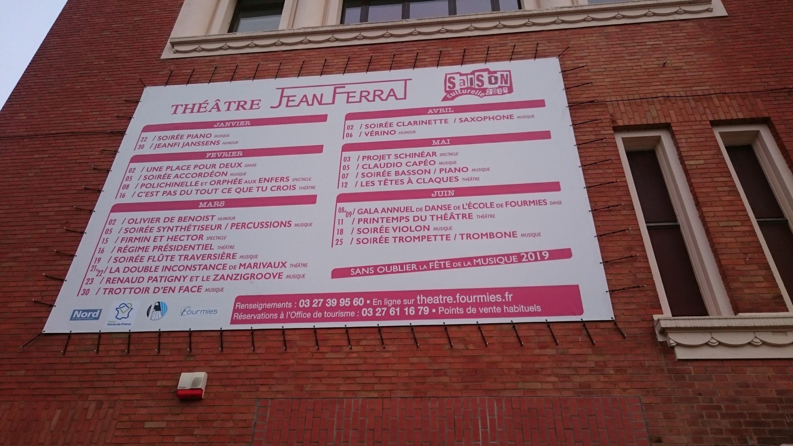 saison culturelle du Théâtre Jean Ferrat, à Fourmies
